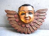 ウッドオーナメント 木彫り [天使]  ビンテージ