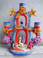 生命の樹 ツリーオブライフ 陶器 [レッド&ブルー ナシミエント] イスカール