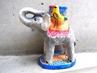 キャンドルホルダー 陶芸 [ゾウ その1] イスカール