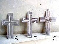 十字架 クロス ピューター シルバー [ミドルサイズ その4]