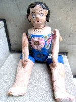 ルピータ パペルマチェ 張り子人形  [フダス ブルー]  ビンテージ
