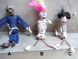 カラベラ スプリングドール 石膏人形  [死者の日] ビンテージ