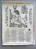 カラベラ マニージャ 版画 ポスター[ガイコツの中身] 死者の日