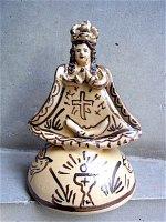 ミチョアカン 陶芸品  [ツィンツンツァン 聖母像]  フォークアート