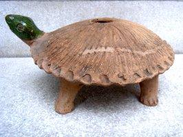 オアハカ 陶器 チア人形  [カメ ビッグサイズ] ビンテージ