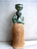 オアハカ 陶器 チア人形  [天使 壺を載せたインディヘナ]