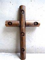 十字架 ウッドクロス [ドライフラワー] ビンテージ
