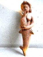 オアハカ 陶芸 人魚  [ホセ・ガルシア工房  ピニャを抱くインディヘナ] サン・アントニーノ