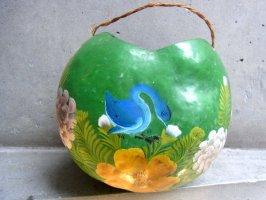 ミチョアカン ヒカラ 壷 [グリーン 青い鳥] ビンテージ