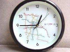 メキシコシティ 壁掛け時計  [CDMX メトロ] インテリア