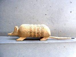 ウッドカービング 木彫り アラソラ  [アルマジロ] ビンテージ