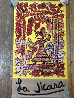 レニャテーロス工房 版画ポスター アート [花のドアと女性] チアパス
