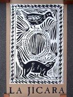 レニャテーロス工房 版画ポスター アート [リスとハチドリ] チアパス