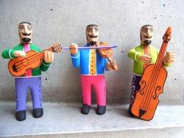 ウッドカービング 木彫り サンチアゴファミリー  [エロイ 楽団トリオ]