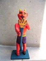ウッドカービング 木彫り人形 オアハカ [ディアブロ] 復刻品