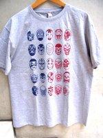 ルチャリブレ Tシャツ [25ルチャドーレス  グレー] X Lサイズ