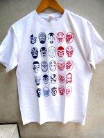 ルチャリブレ Tシャツ [25ルチャドーレス  ホワイト] Lサイズ