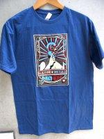 ルチャリブレ Tシャツ [ドスカラス ネイビーブルー] Lサイズ