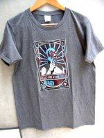 ルチャリブレ Tシャツ [ドスカラス 霜降りグレー] Lサイズ