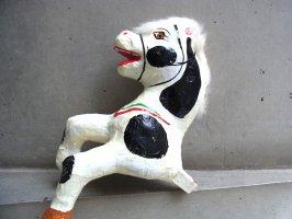メキシコ パペルマチェ 張り子 [ウマ 黒模様その1] 玩具