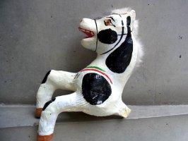 メキシコ パペルマチェ 張り子 [ウマ 黒模様その2] 玩具