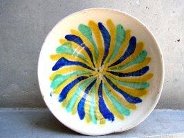 オアハカ 陶器 ボウル [イエローグリーン ブルー] ビンテージ