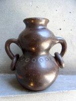 陶芸 壺 花器  [エロン・マルチネス? ブラウン オジャ ] ビンテージ