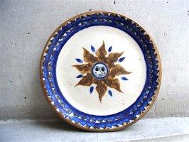 トナラスタイル サン・ヘルマン工房 陶器 [プレート 太陽と月の顔 20cm]