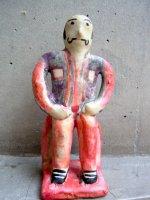 プエブラ マタモロス 陶芸  [フローレス 魔除け人形 マル・デル・アイレ] ビンテージ