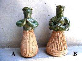 オアハカ アツォンパ 陶器 チア人形  [スモール 天使 その2]