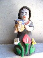 オアハカ 陶芸   [花売りの少女 ] ビンテージ