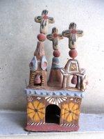 メテペック 陶芸  [教会 28cm ]  ビンテージ