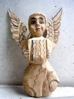 ゲレーロ タスコ 木彫り人形  [天使 ナチュラル] ビンテージ