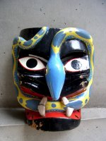 ウッドマスク 木製の仮面  [チアパス ネグリート蛇]  ビンテージ