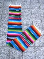 サラペ メキシカンラグ マット [ターコイズブルー] 200×140cm