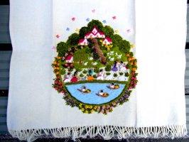 ミチョアカン 刺繍 ファブリック  [スモールラグ 72cm]