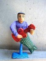 ウッドカービング 木彫り サンチアゴファミリー  [エルネスト 人魚]