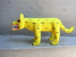 ウッドカービング 木彫り サンチアゴ  [吠えるトラ]