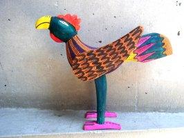 オアハカ ウッドカービング 木彫り人形  [雄鶏] 復刻品