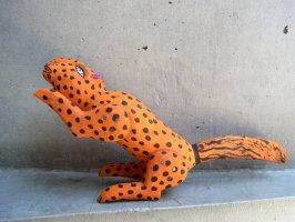 オアハカ ウッドカービング 木彫り人形  [ジャガー] 復刻品