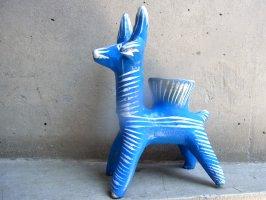 オクミチョ 土人形  [シカ キャンドルホルダー] ビンテージ