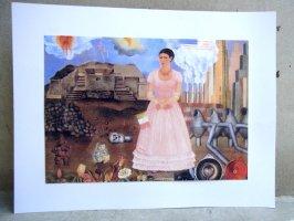 フリーダカーロ ピクチャー カード [メキシコとアメリカの境界線の自己肖像]