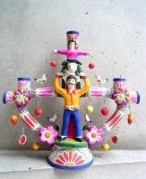 生命の樹 ツリーオブライフ [サウル・モンテシーノ 親子と牛 33cm]ビンテージ