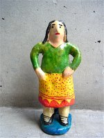 プエブラ イスカール 陶人形  [フローレス 家政婦] ビンテージ