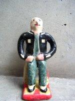 プエブラ イスカール 陶人形  [フローレス 教授] ビンテージ