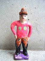 プエブラ イスカール 陶人形  [フローレス 消防士] ビンテージ