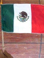 メキシコ 国旗 フラッグ  [ハンディサイズ]