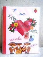 メキシコ レトロ マリナルコ [バレンタイン] ノートブック