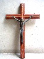 十字架 ウッドクロス [メタル ジーザス] ビンテージ