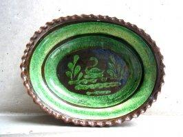 パタンバン 緑釉 深皿  [バテア 白鳥]  used